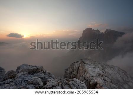 Pale di San Martino - stock photo