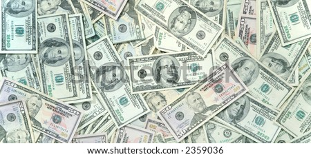 Pale green money background - stock photo