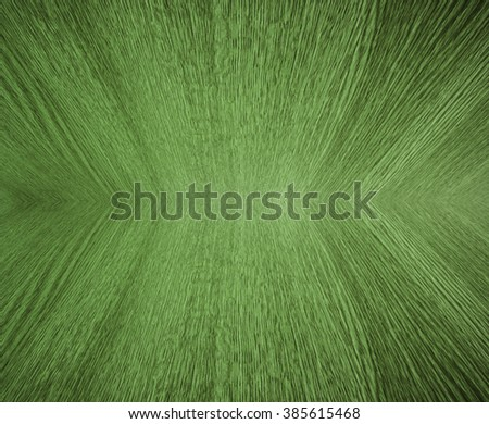 Pale green pastel wood grain, in mirror image, abstract background texture, design with diminishing perspective / depth / motion effect. - stock photo