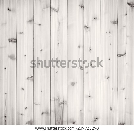 Pale light gray wood background of wooden planks showing woodgrain texture - stock photo