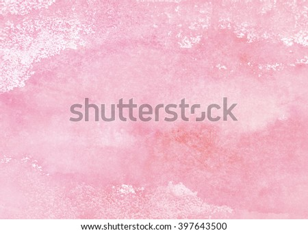 pale pink watercolor background - stock photo