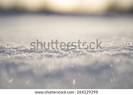 Pale snow - stock photo