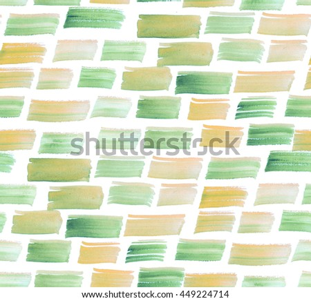 pale spring color brushstroke watercolor seamless pattern