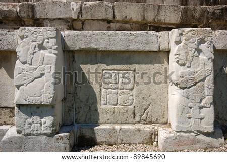 Palenque mayan ruins-monuments Chiapas Mexico - stock photo