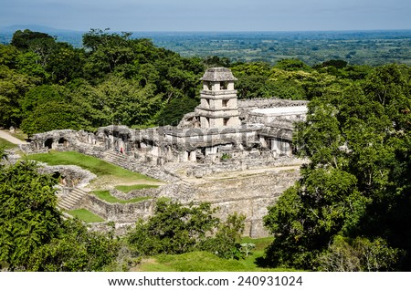 Palenque ruins - stock photo
