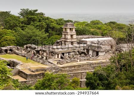 Palenque ruins - stock photo