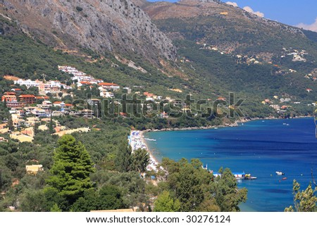 Paleokastritsa on corfu island Greece