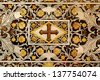 PALERMO - APRIL 9: Detail of baroque mosaic from side altar in Monreale cathedral. Church is wonderful example of Norman architecture on April 9, 2013 in Palermo, Italy. - stock photo