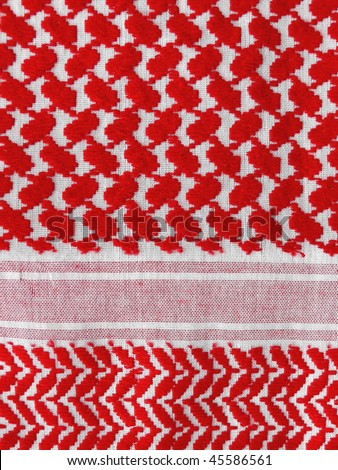 palestine keffieh texture closeup. More of this motif & more textiles in my port. - stock photo