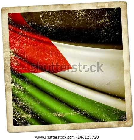 Palestinian grunge sticker - stock photo
