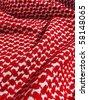 palestinian keffiyah texture closeup - stock photo