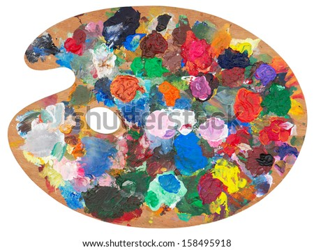 Palette isolated on white. Clipping path included/ - stock photo