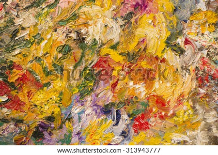 Palette knife oil painting background.  Art concept.