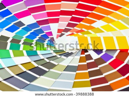 palette of different colors and shades - stock photo
