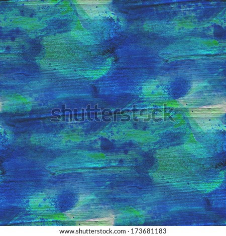 palette picture frame graphic seamless watercolor green, blue background artist artwork style texture