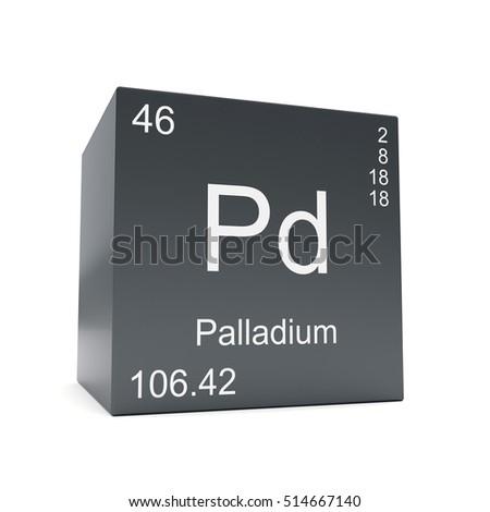 Palladium Chemical Element Symbol Periodic Table Stock Illustration