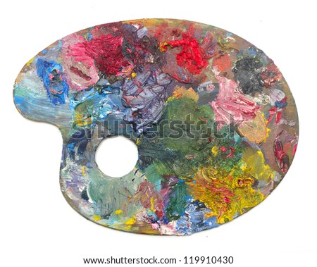 pallette on a white background - stock photo