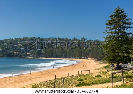 Palm Beach one of Sydney's Northern Beaches - stock photo