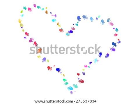 Palm heart - stock photo