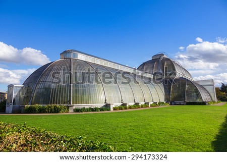 Palm House at Kew Gardens in London - stock photo