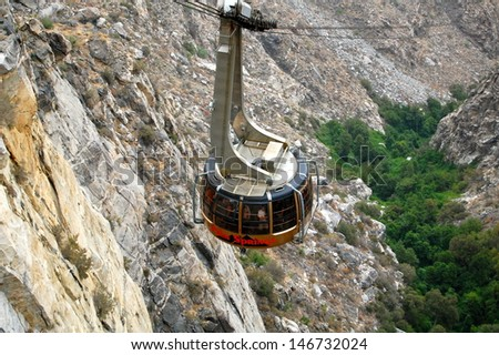 Palm Springs Aerial Tram - stock photo