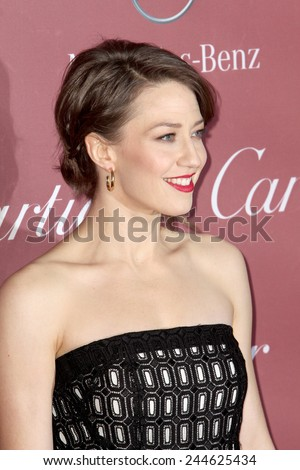 PALM SPRINGS, CA - JAN 3: Carrie Coon arrives at the 2015 Palm Springs Film Festival Awards Gala at the Palm Springs Convention Center on January 3, 2015 in Palm Springs, CA. - stock photo