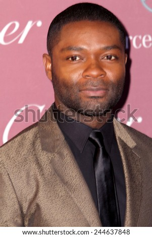 PALM SPRINGS, CA - JAN 3: David Oyelowo arrives at the 2015 Palm Springs International Film Festival Awards Gala at the Palm Springs Convention Center on January 3, 2015 in Palm Springs, CA. - stock photo