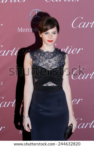 PALM SPRINGS, CA - JAN 3: Felicity Jones arrives at the 2015 Palm Springs International Film Festival Awards Gala at the Palm Springs Convention Center on January 3, 2015 in Palm Springs, CA. - stock photo