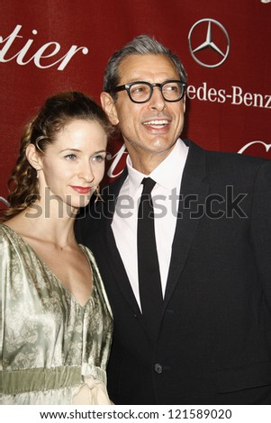 PALM SPRINGS, CA - JAN 7: Jeff Goldblum; Emilie Livingston at the 23rd Palm Springs International Film Festival Awards Gala at the Palm Springs Convention Center on January 7, 2012 in Palm Springs, CA - stock photo