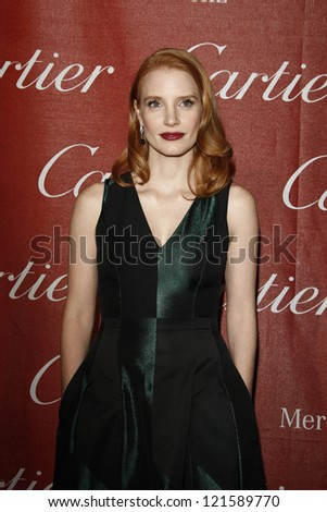 PALM SPRINGS, CA - JAN 7: Jessica Chastain at the 23rd Annual Palm Springs International Film Festival Awards Gala at the Palm Springs Convention Center on January 7, 2012 in Palm Springs, California