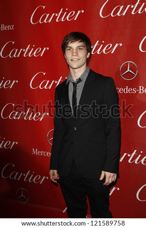 PALM SPRINGS, CA - JAN 7: Nick Krause at the 23rd Annual Palm Springs International Film Festival Awards Gala at the Palm Springs Convention Center on January 7, 2012 in Palm Springs, California - stock photo