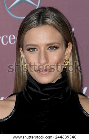 PALM SPRINGS, CA - JAN 3: Renee Bargh arrives at the 2015 Palm Springs International Film Festival Awards Gala at the Palm Springs Convention Center on January 3, 2015 in Palm Springs, CA. - stock photo