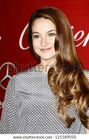 PALM SPRINGS, CA - JAN 7: Shailene Woodley at the 23rd Annual Palm Springs International Film Festival Awards Gala at the Palm Springs Convention Center on January 7, 2012 in Palm Springs, California - stock photo