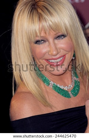 PALM SPRINGS, CA - JAN 3: Suzanne Somers arrives at the 2015 Palm Springs Film Festival Awards Gala at the Palm Springs Convention Center on January 3, 2015 in Palm Springs, CA. - stock photo