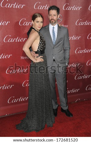 PALM SPRINGS, CA - JANUARY 4, 2014: Amy Adams & husband Darren Le Gallo at the 2014 Palm Springs International Film Festival Awards gala at the Palm Springs Convention Centre.  - stock photo