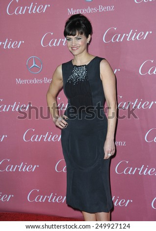 PALM SPRINGS, CA - JANUARY 6, 2015: Carla Gugino at the 2015 Palm Springs Film Festival Awards Gala at the Palm Springs Convention Centre.  - stock photo