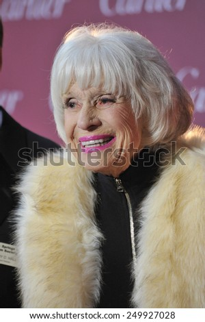 PALM SPRINGS, CA - JANUARY 6, 2015: Carol Channing at the 2015 Palm Springs Film Festival Awards Gala at the Palm Springs Convention Centre.  - stock photo