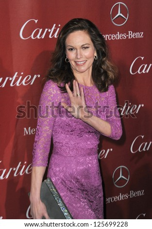 PALM SPRINGS, CA - JANUARY 5, 2013: Diane Lane at the Awards Gala for the 2013 Palm Springs International Film Festival.