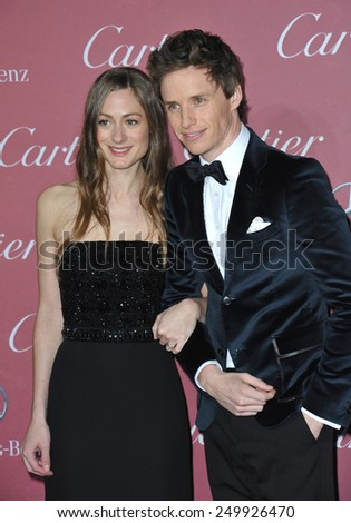 PALM SPRINGS, CA - JANUARY 6, 2015: Eddie Redmayne & wife Hannah Bagshawe at the 2015 Palm Springs Film Festival Awards Gala at the Palm Springs Convention Centre.