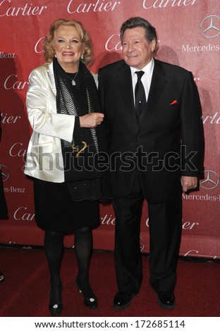 PALM SPRINGS, CA - JANUARY 4, 2014: Gena Rowlands & husband at the 2014 Palm Springs International Film Festival Awards gala at the Palm Springs Convention Centre.  - stock photo
