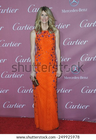 PALM SPRINGS, CA - JANUARY 6, 2015: Laura Dern at the 2015 Palm Springs Film Festival Awards Gala at the Palm Springs Convention Centre.  - stock photo