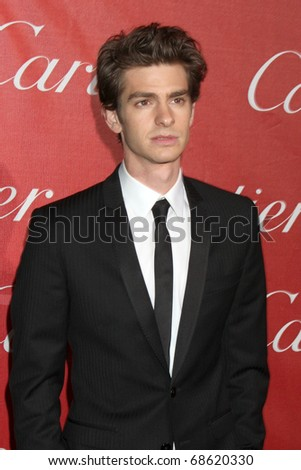 PALM SPRINGS - JAN 8: Andrew Garfield arrives at the Palm Springs International Film Festival 2011 Awards Gala at Palm Springs Convention Center on January 8, 2011 in Palm Springs, CA. - stock photo