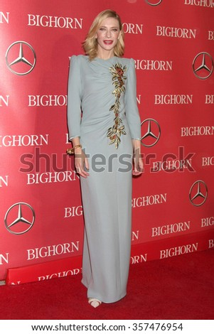 PALM SPRINGS - JAN 2:  Cate Blanchett at the 27th Palm Springs International Film Festival Gala at the Convention Center on January 2, 2016 in Palm Springs, CA - stock photo