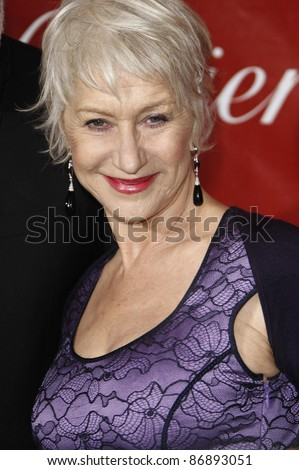 PALM SPRINGS - JAN 8: Helen Mirren at the 2011 Palm Springs International Film Festival Awards Gala held at the convention center in Palm Springs, California on January 8, 2011 - stock photo