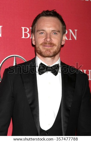PALM SPRINGS - JAN 2:  Michael Fassbender at the 27th Palm Springs International Film Festival Gala at the Convention Center on January 2, 2016 in Palm Springs, CA - stock photo