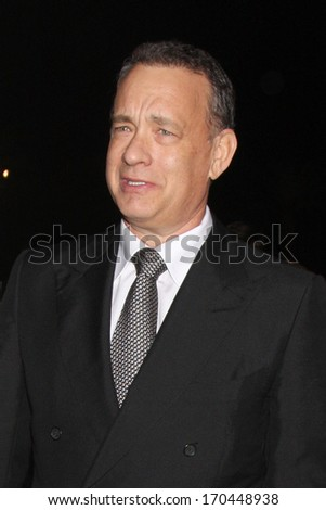 PALM SPRINGS - JAN 4:  Tom Hanks at the Palm Springs Film Festival Gala at Palm Springs Convention Center on January 4, 2014 in Palm Springs, CA