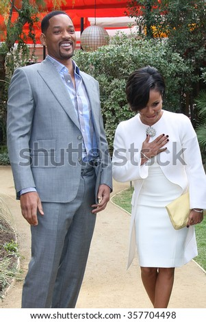PALM SPRINGS - JAN 3:  Will Smith, Jada Pinkett Smith at the Variety Creative Impact Awards And 10 Directors To Watch Brunch at the The Parker Hotel on January 3, 2016 in Palm Springs, CA - stock photo