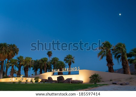 palm springs sign - stock photo