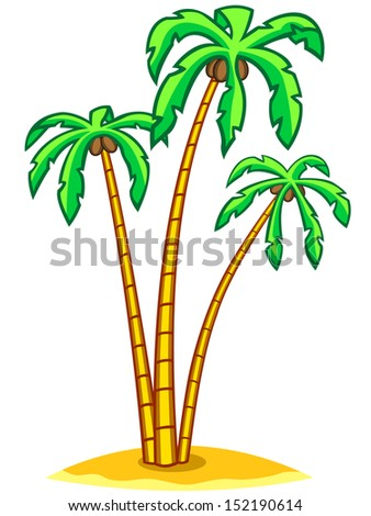 Palm trees for various design