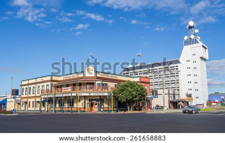 PALMERSTON NORTH, NZL - May 10 2014: Empire Hotel, located in the intersection of the city.